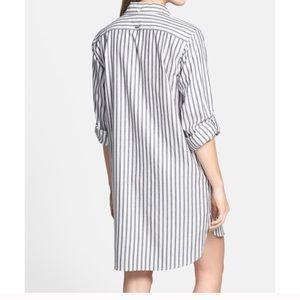 DKNY striped flannel shirt dress